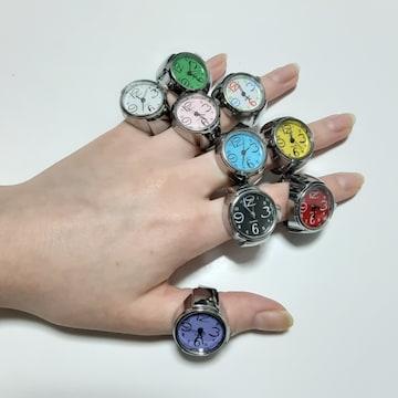 新品 未使用 指輪 時計 シンプル 9色セット