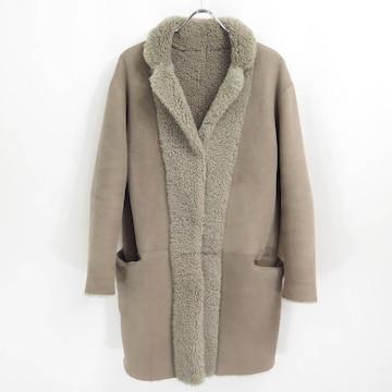 定価28万 wb × T.O.N.O,S リアル ムートン レザー コート 羊革 MOGA