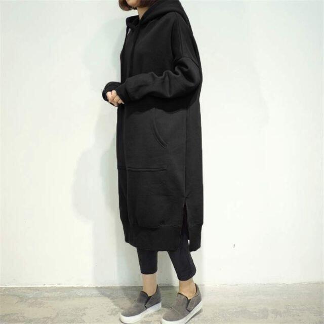 新品大きいサイズ4L(5L6L) 超ゆったりパーカーワンピース < 女性ファッションの