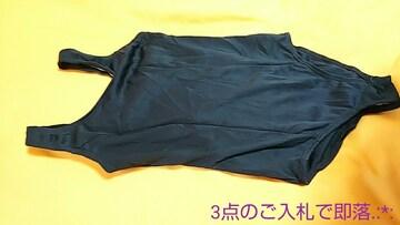 極美品☆140☆微光沢とろみネイビーの競泳水着3488☆3点で即落