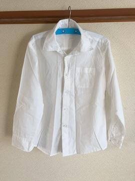 美品男児白ワイシャツYシャツサイズ130cmフォーマルスーツにも冠婚葬祭