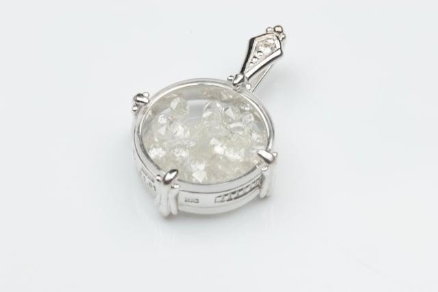 K18WG 合計 1.01ct ダイヤモンド ペンダント トップ  < 女性アクセサリー/時計の