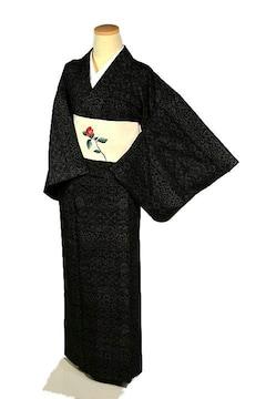 【単衣】【希少】【最高峰】美品 薩摩結城紬 120亀甲 小紋 T2267