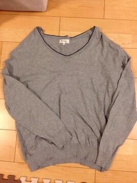 3Lサイズ グレーのセーター