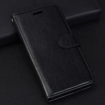 iPhone6 6S 手帳型ケース レザー ピンホール 保護フィルム 黒