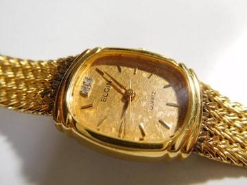 エルジン の腕時計レディース クォーツ製 動作確認済!。