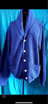 カジュアル★青☆襟デザイン☆ジャケット☆サイズ3L