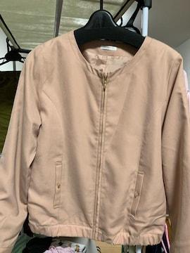 美品 ノーカラージャケット