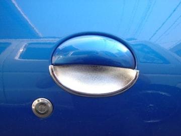 クロームメッキドアハンドルカバー皿 プジョー206