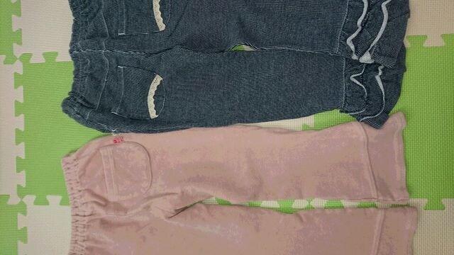 120女の子冬パンツ2枚まとめ売り(KPニットプランナー、オシュコシュ) < ブランドの