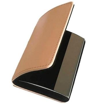 名刺入れ 牛革 カードケース ライトピンク