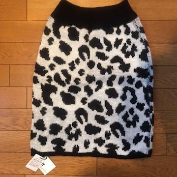 【値下げ不可】新品未使用!!SLY  ニット レオパード スカート