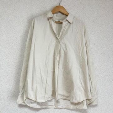 ユニクロ オープンネック、ゆったりコーデュロイシャツ カットソー★