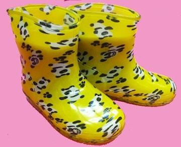 ☆●△ 長靴◆ハイハイパンダ◆キイロ◆13cm◆