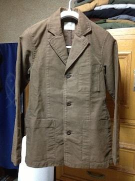 ドミンゴ カバーオールブルゾン ジャケット Sサイズ 茶 ユーズド加工 日本製 古着