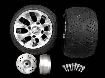 4stジャイロ ツートンホイール扁平タイヤ&スペーサーセット