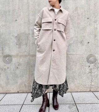 新品☆CIAOPANIC(チャオパニック)メルトン裏毛シャツロングコート☆