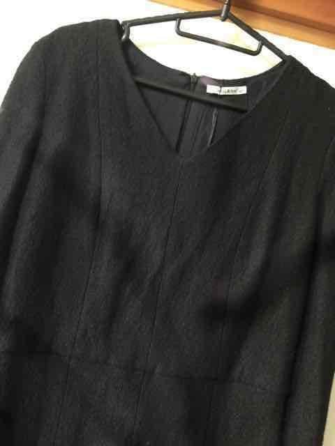 N133/bimba&lola/XSサイズ/ブラック/膝丈ワンピ/ < 女性ファッションの