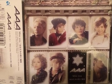 激安!超レア☆AAA/Miss you☆初回盤/CD+DVD☆帯・トレカ付/美品