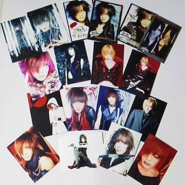 レア★the GazettE/ガゼット【戒】物販写真&デジフォト18点 2004年
