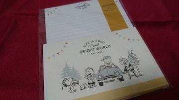 新品未使用レターセット★スヌーピー(みんなと一緒)