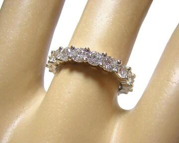 14金 フルエタニティリング 指輪 約2ct キュービック