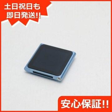 ●安心保証●超美品●iPOD nano 第6世代 8GB ブルー●