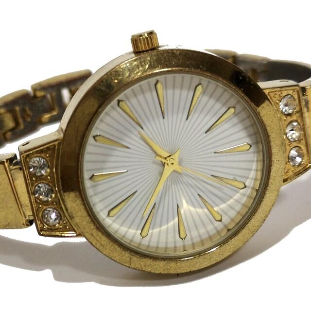 良品【980円〜】AVON【ジルコニア】アンティーク 腕時計 < 女性アクセサリー/時計の