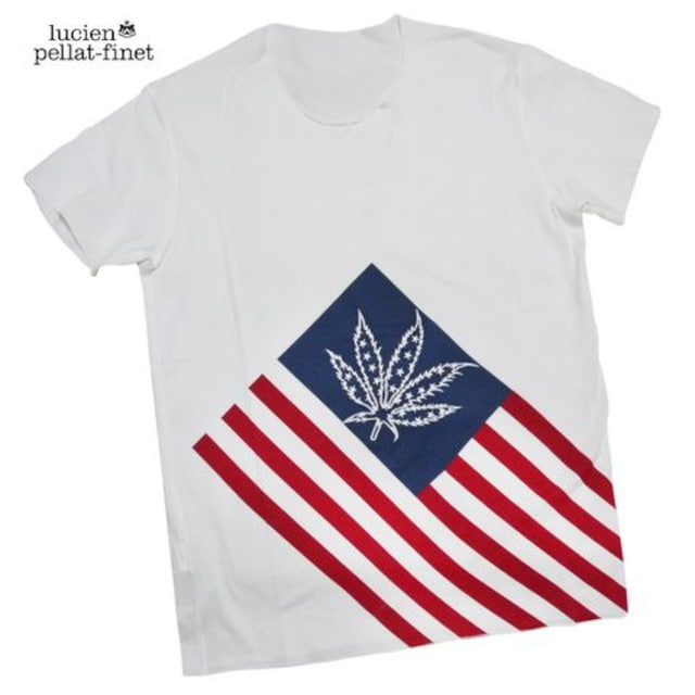 ルシアンペラフィネlucien pellat-finetメンズアメリカ国旗T  < ブランドの