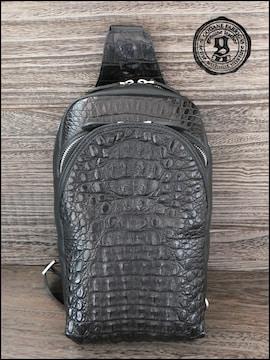 カイマンクロコワニ革 バックパック ゴダンscbg99765.Black