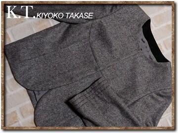 キヨコタカセ 襟なしラメ入りジャケット