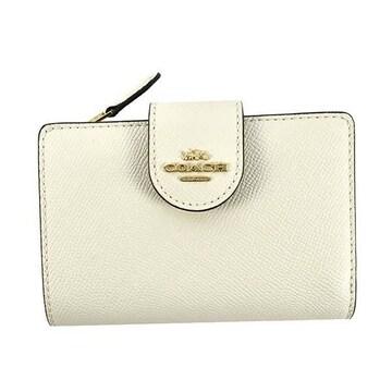 ◆新品本物◆コーチ ミディアム コーナージップ 2つ折財布(WT)『F6390』◆