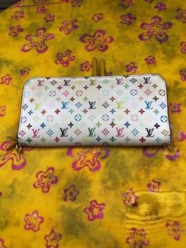 【ケース付き】ルイヴィトン長財布モノグラムマルチカラー綺麗め