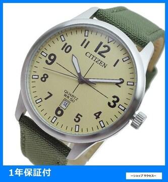新品即買 シチズン 腕時計 メンズ BI1050-05X カーキ ミリタリー