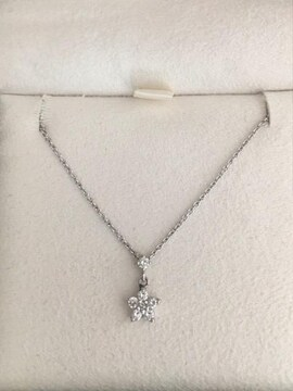 ヴァンドーム青山 ダイヤモンド ネックレス Pt900 0.14ct 2.6g