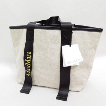 MaxMara マックスマーラ ロゴ 刺繍 キャンバス トート バッグ 帆布