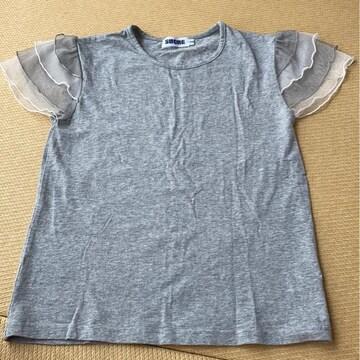 ★スカラ★袖レースTシャツ★美品★