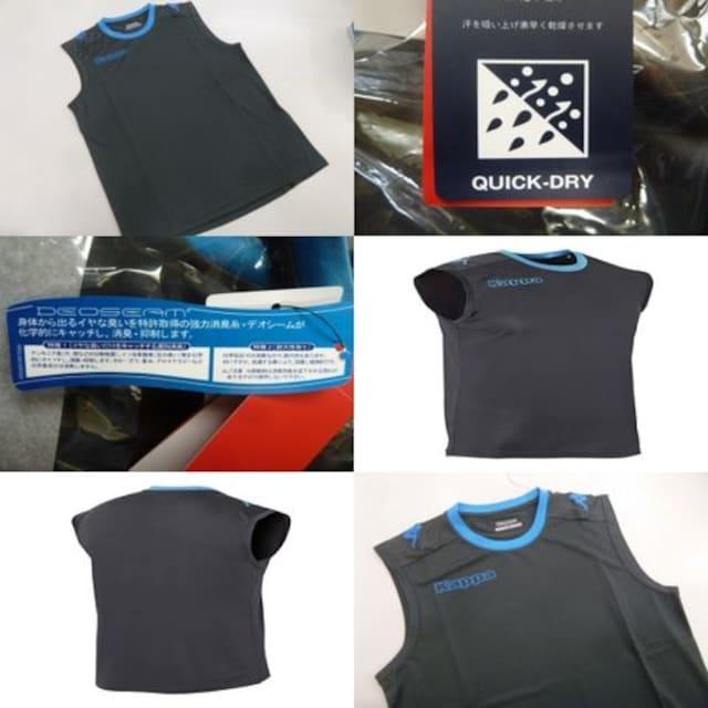 L 灰)カッパ KF712TN11 ノースリブシャツ スリーブレス袖なし薄手吸汗  < レジャー/スポーツの