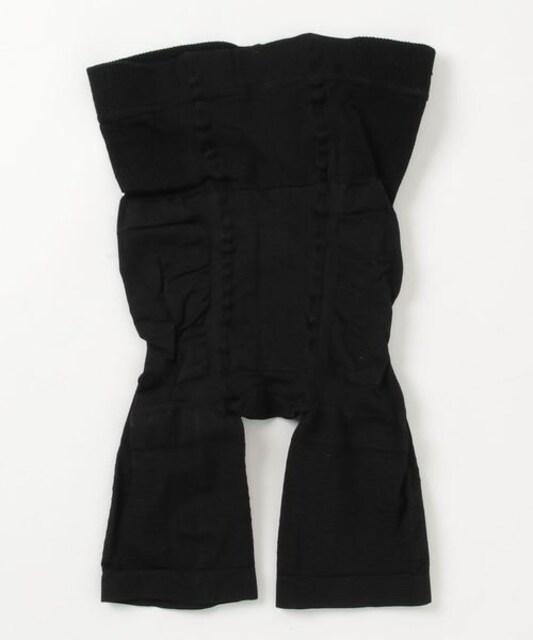 劇的骨盤ガードルスパッツ  レギンス ハーフタイプ ブラック < 女性ファッションの