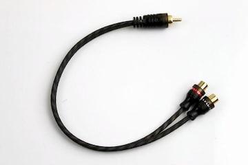 RCA二股分岐ケーブル プラグ 分配 変換