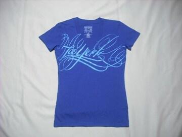 mq528 女 ZOO YORK ズーヨーク 青 Tシャツ Sサイズ