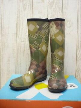 即決☆カミック 特価 W's レインブーツ [DD] GRN/24cm 新品 長靴