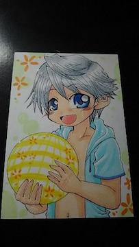 自作イラスト オリジナル 「パーカー少年」同人 手描きイラスト