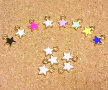 カラーチャーム星5個パステルピンク