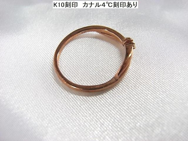お値下げ☆正規 カナル4℃ ダイヤxK10リング11号 < ブランドの