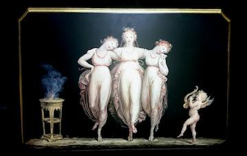 イタリア製 複製画 名画 カノーヴァ 三美神 天使 アンティーク