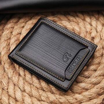 二つ折り財布 パスケース 付 送料無料  多機能 カード 10枚