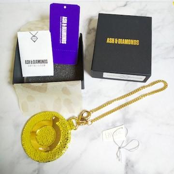 レア!! ASH&DIAMONDS★ミラーチャーム【新品】イエロー