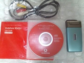 希少☆ 美品* Vodafone904SH *アクアブルー☆゜+。★。+*