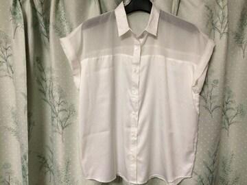 新品未使用GUジーユー半袖シースルーブラウスシャツ